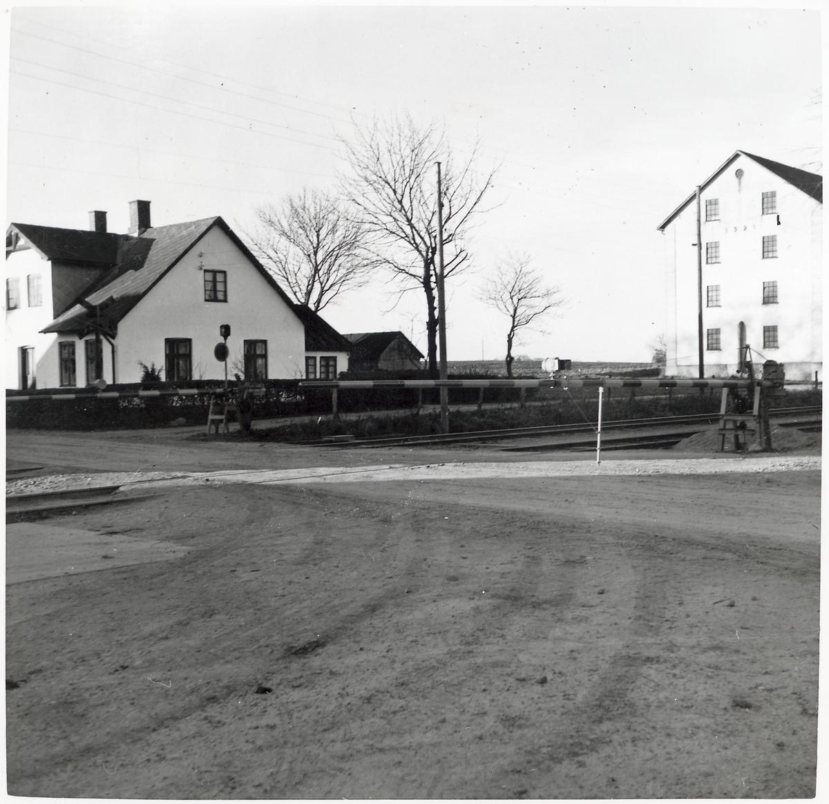 Järnvägsövergång i Rynge.