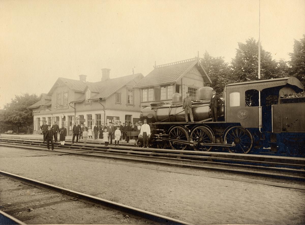 Tumba station 1900T. Lok SJ T 756. Stins N.Nilsson