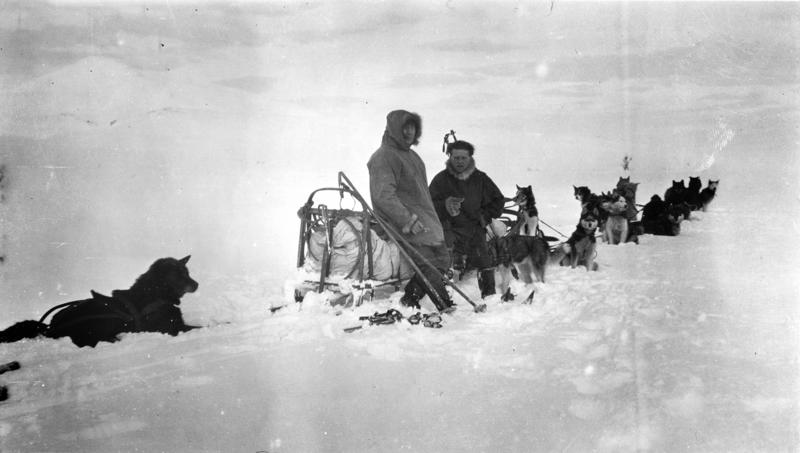 Roald Amundsen og Leonhard Seppala, 1923 (Foto/Photo)