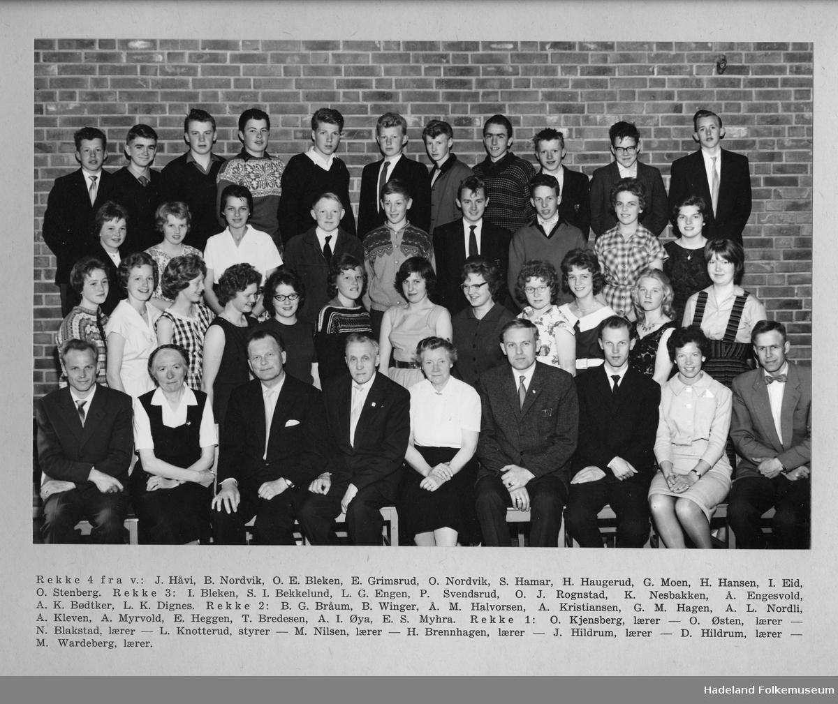 Brandbu Framhaldsskole - 9. skoleår 1960-1961