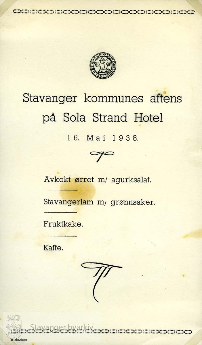 ..(Fra minnealbum avlevert av familien Hansen. Bildene og dokumentene er dog blitt til som ledd av L.W.Hansens kommunale virke, og er således innlemmet som del av formannskapets bildearkiv)
