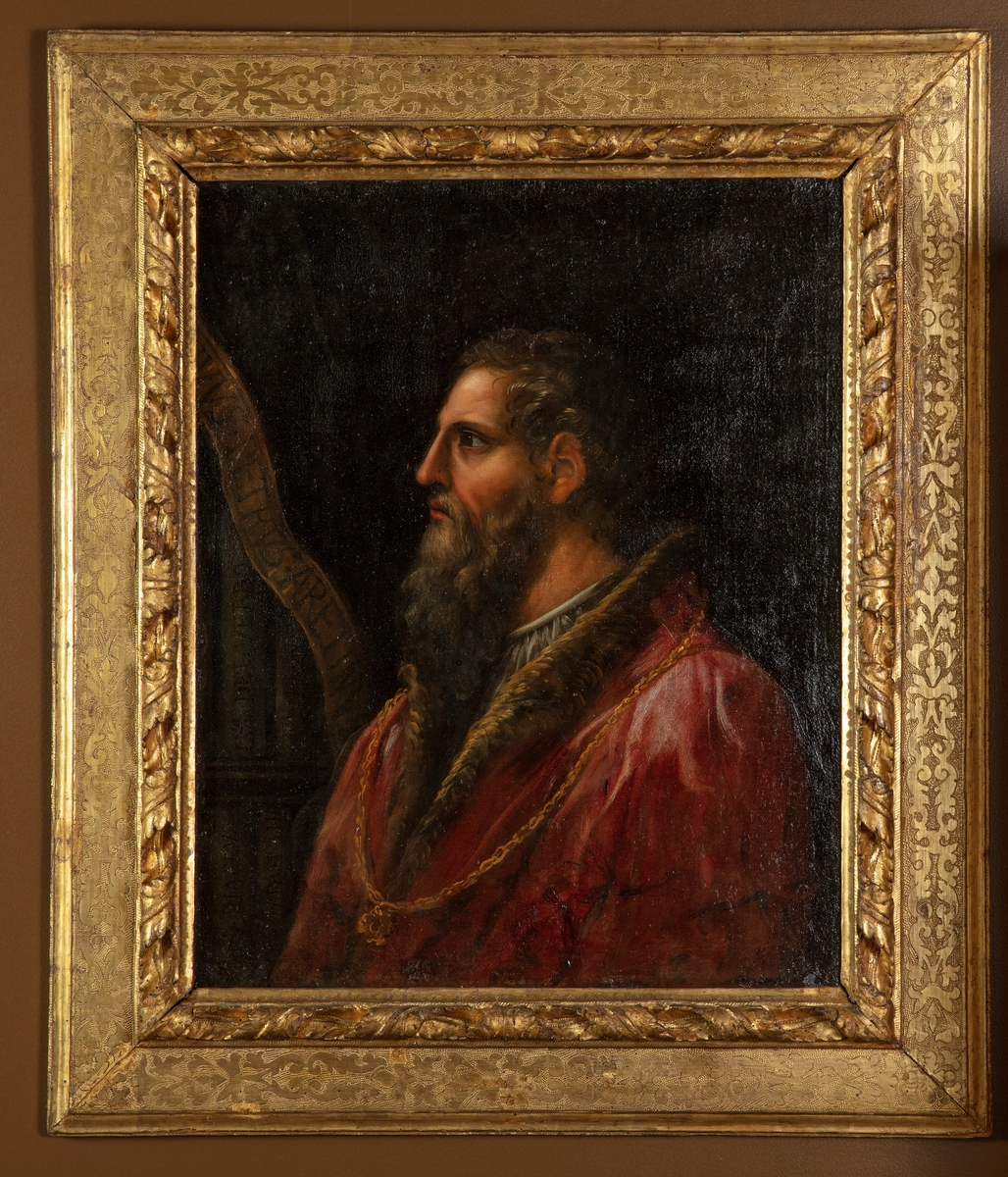 Profilportrett av den italienske forfatteren Pietro Aretino
