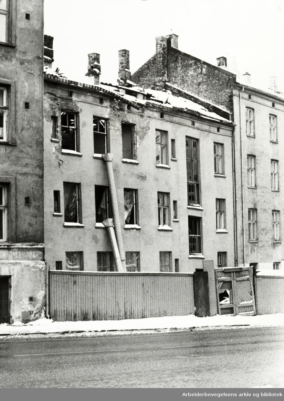 Gamlebyen. Munkegata 4. Mars 1979