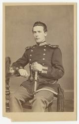 Porträtt av Carl Thor Thorell, officer vid Kronobergs regeme