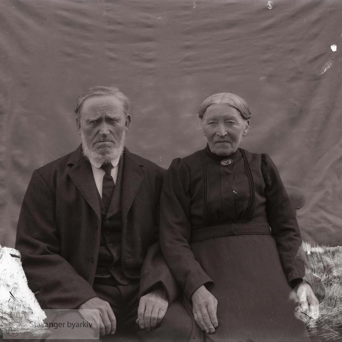 Portrett av eldre par