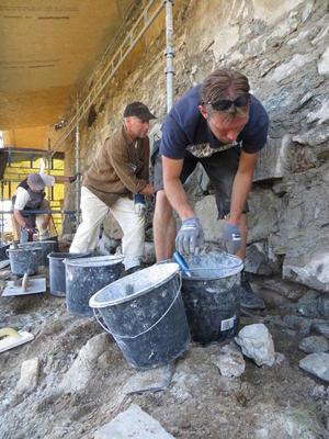 Handverksdager på Røros. Leire - et byggemateriale med lange tradisjoner.. Foto/Photo