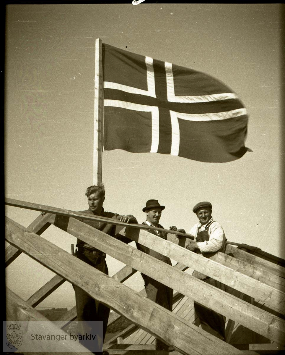 Sperreflagg på huset