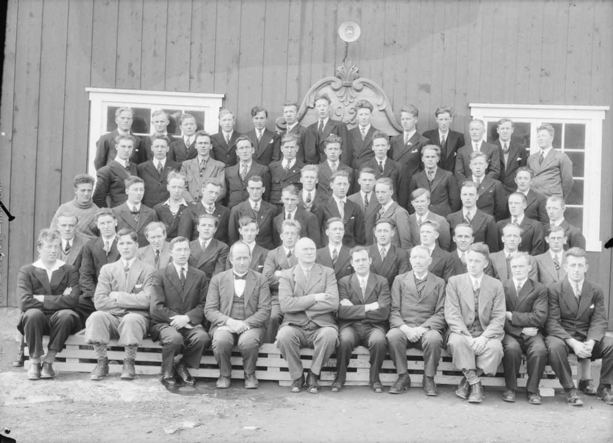 Elever og lærere ved Hjerleidske husflidsskule, Dovre