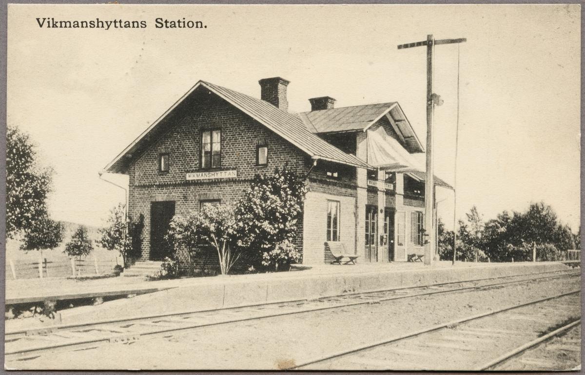 Vikmanshyttans järnvägsstation.