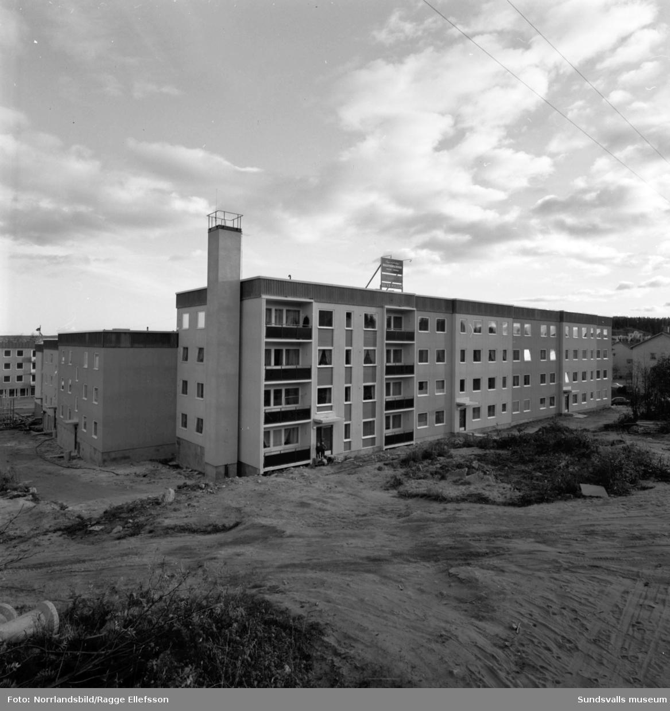 Nybyggt flerfamiljshus vid Skogsvägen 10 i Timrå.
