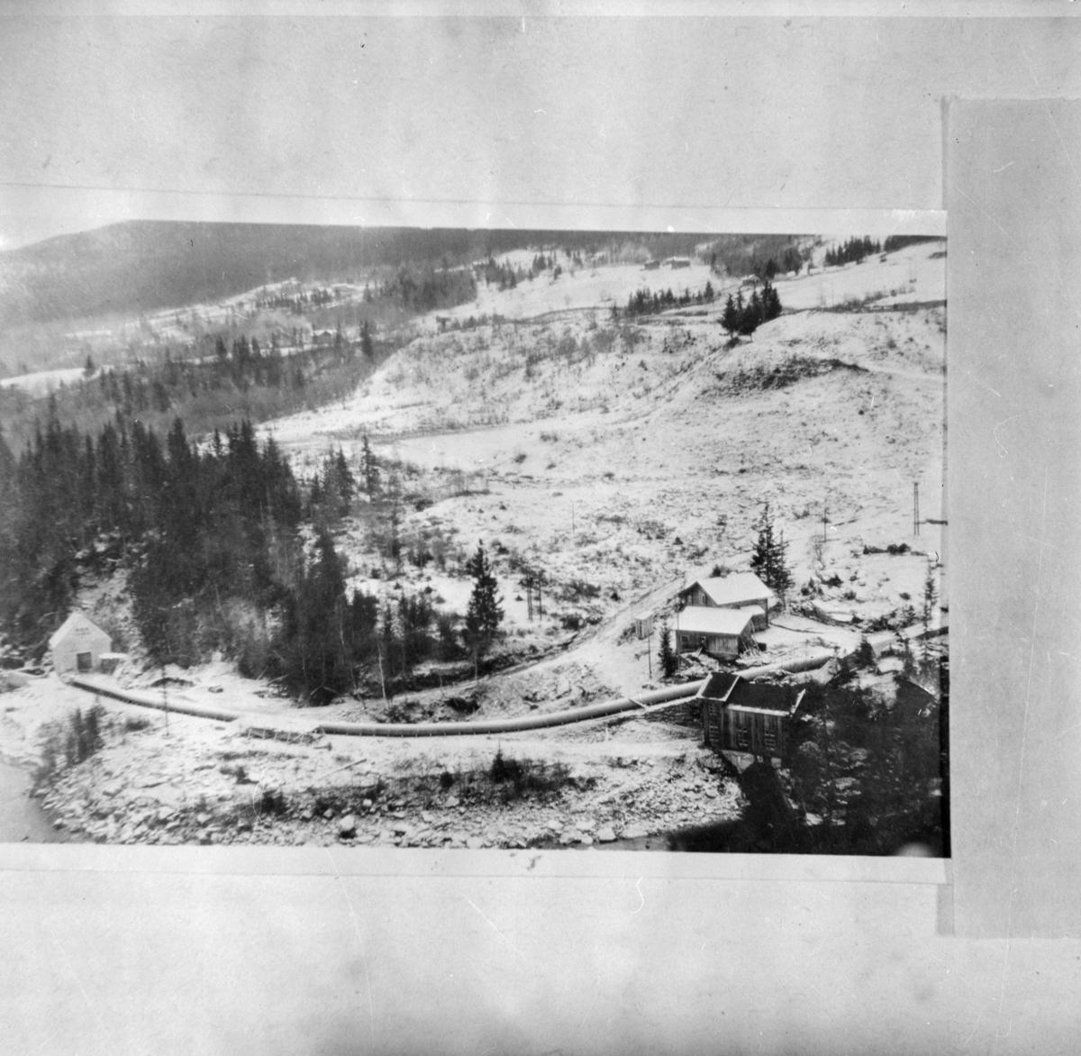 Antakelig bygging av Rørgate til Raua kraftstasjon - repro