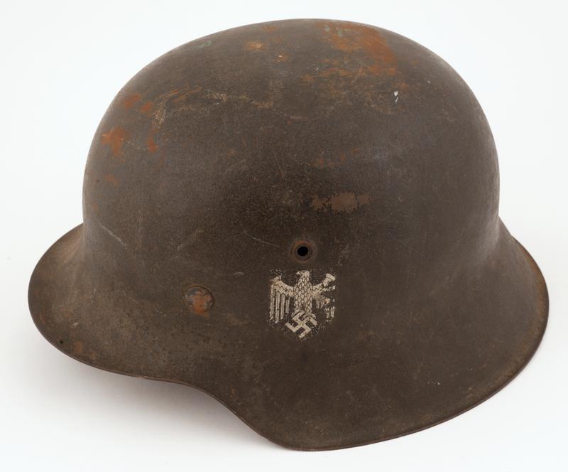 Tysk soldathjelm.