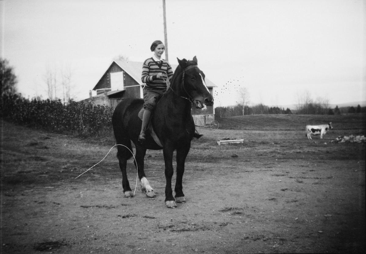 Kvinne til hest
