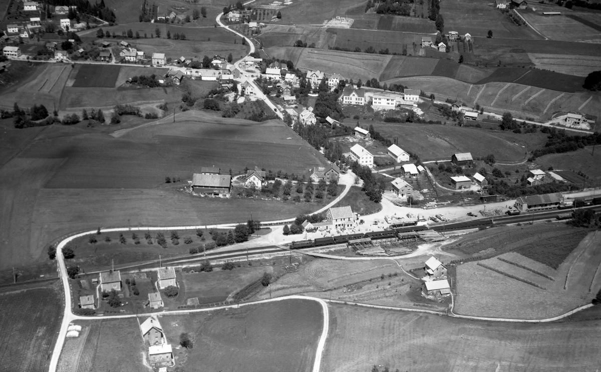 Flyfoto over Bø jernbanestasjon