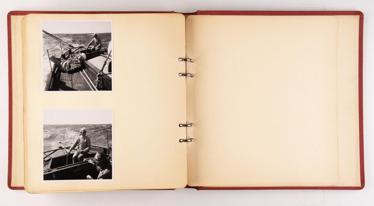 Fotoalbum etter Kjell Bøe. Inneholder blant annet bilder av skøyten 'Godbonden' (b.1954)