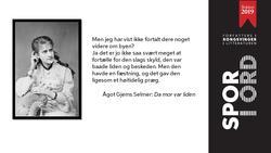SPOR I ORD Ågot Gjems Selmer (Foto/Photo)