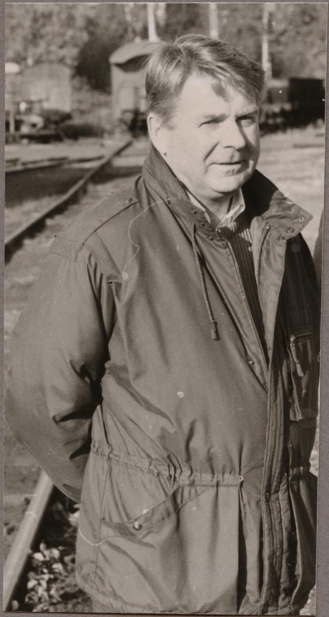 Lennart Söderberg produktionstekniker vid Banverket i Ludvika 1989.