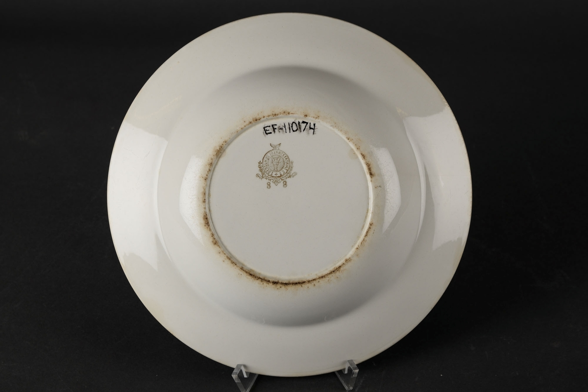 Hvit skål.