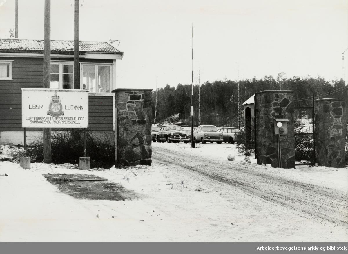 Lutvann. Luftforsvarets befalskole. 1979