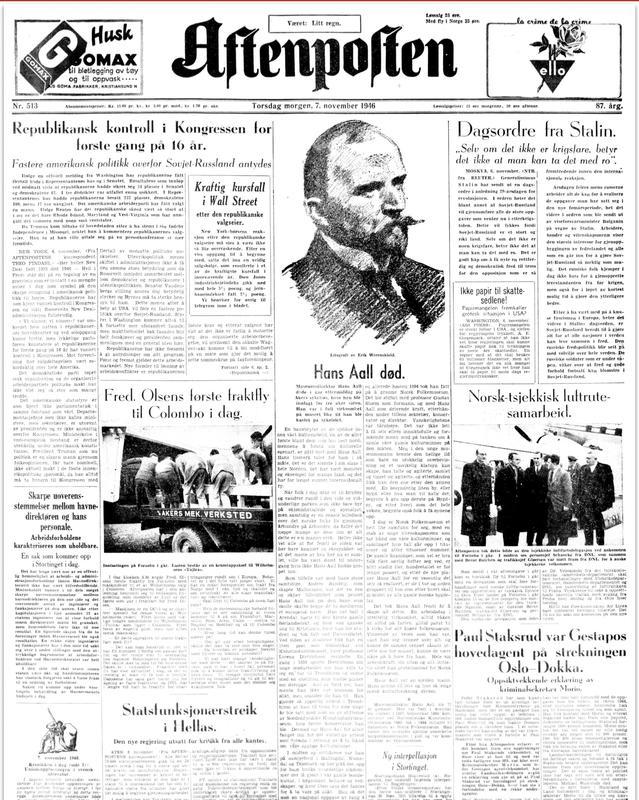 Aftenposten 1946 (Foto/Photo)