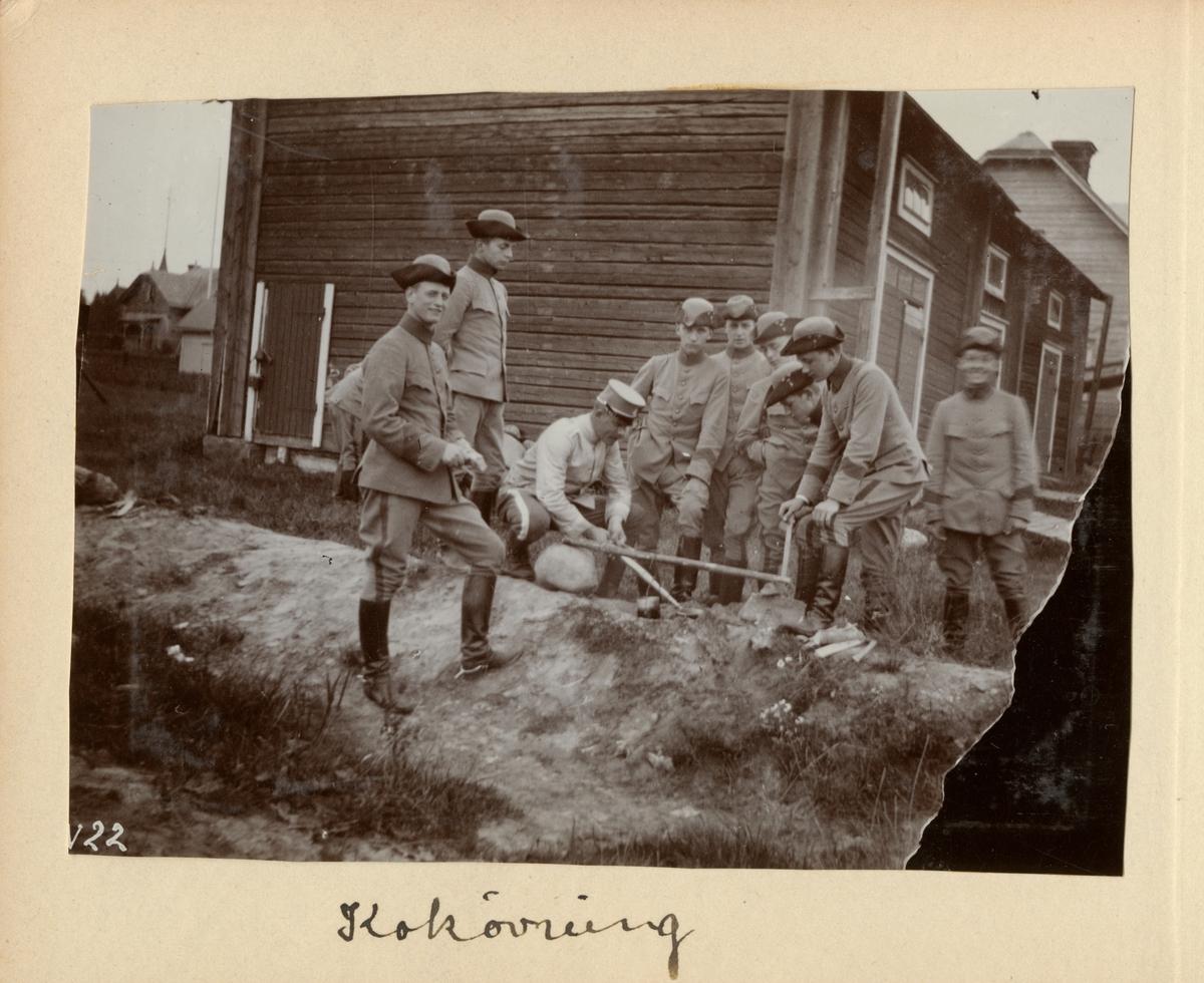 Kokövning, Kavalleriskolan i Umeå.