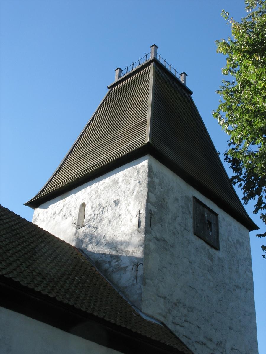 Exteriör, Kumlaby kyrka på Visingsö i Jönköpings kommun.