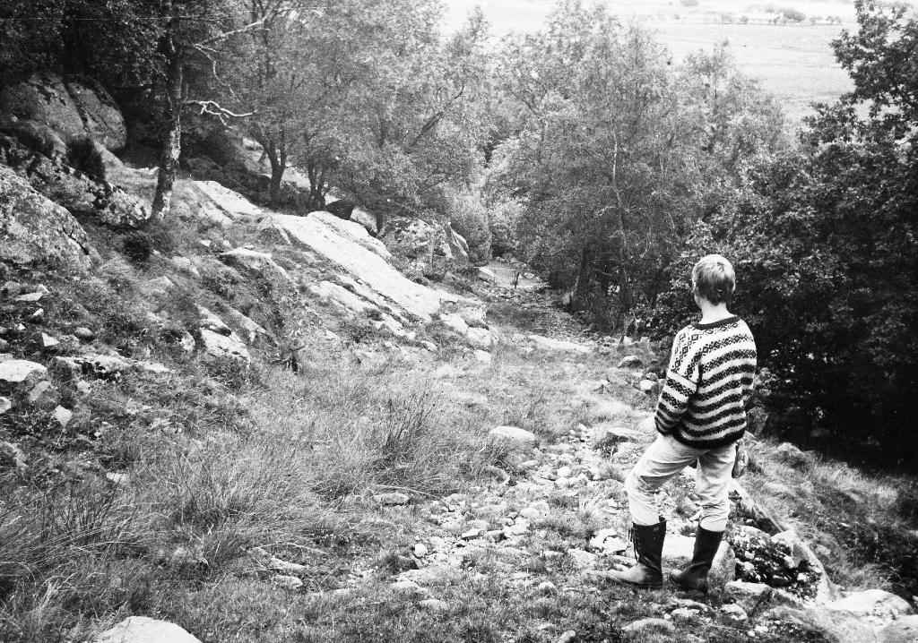 """""""Kleivo"""", fjedlavegen opp til Njå-fjellet."""