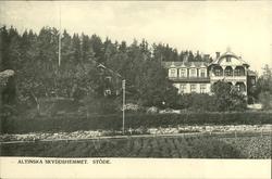 Vykort med motiv över Altinska skyddshemmet i Stöde.