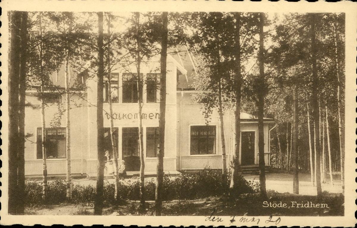 Vykort med motiv av Villa Fridhem i Stöde.