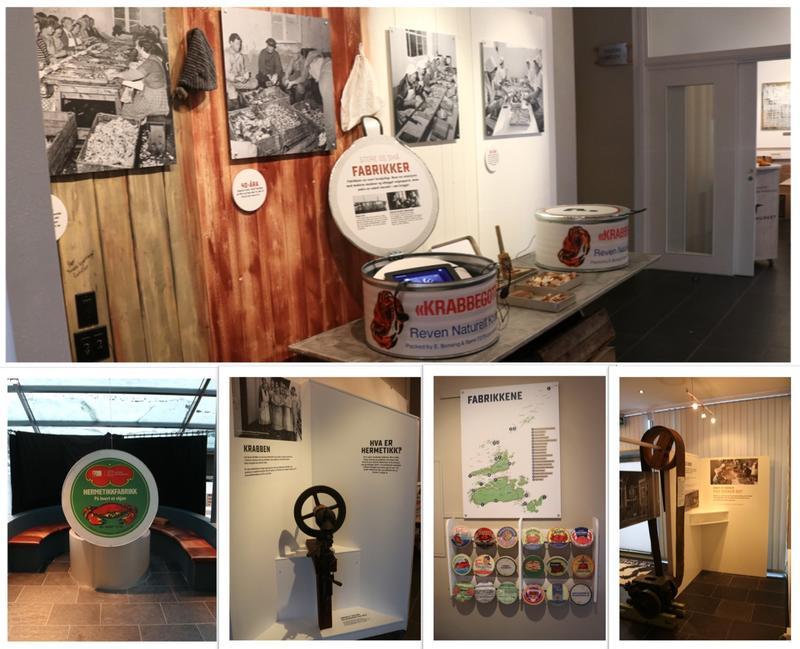 Utstillinga kan besøkes på museumsbygget på Fillan, og inneholder både maskiner, bilder, etiketter og videoer fra den omfattende hermetikkindustrien.