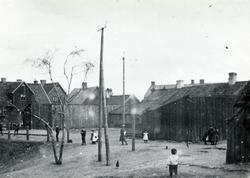 Brunnsgatan, Halmstad. Uppgången till Galgberget vid Brunns