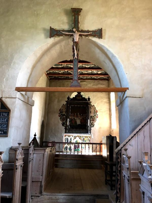 Interiør, Tingelstad gamle kirke. Foto: Randsfjordmuseet (Foto/Photo)