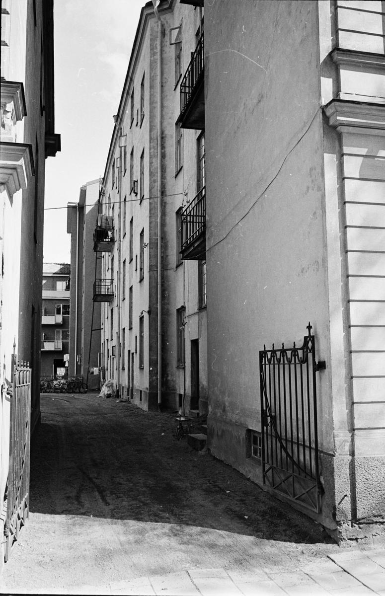 Rivningshus, Luthagsesplanaden 12 och Sysslomansgatan 29, Uppsala 1964