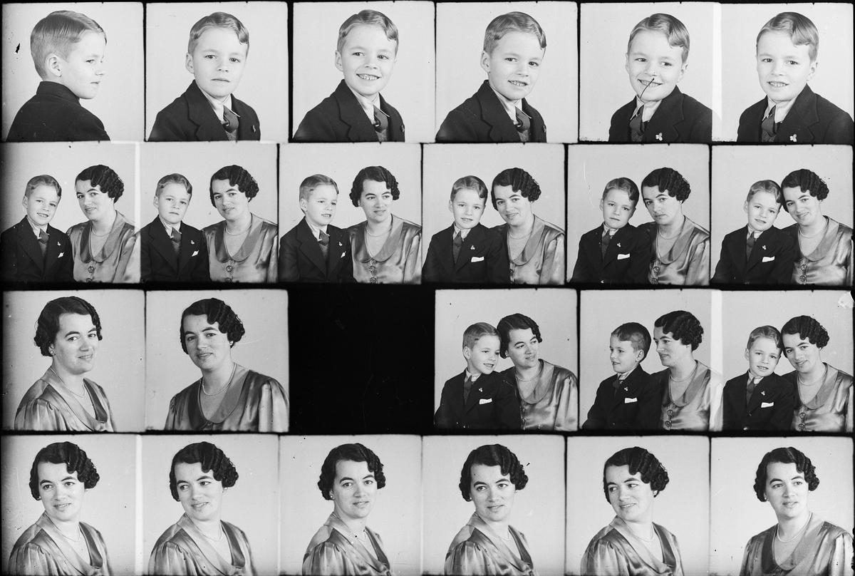 Ateljéporträtt - pojke och kvinna, Östhammar, Uppland