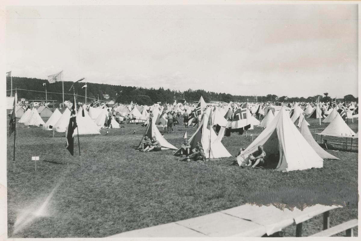 Speiderleir på Tronvik i1936.