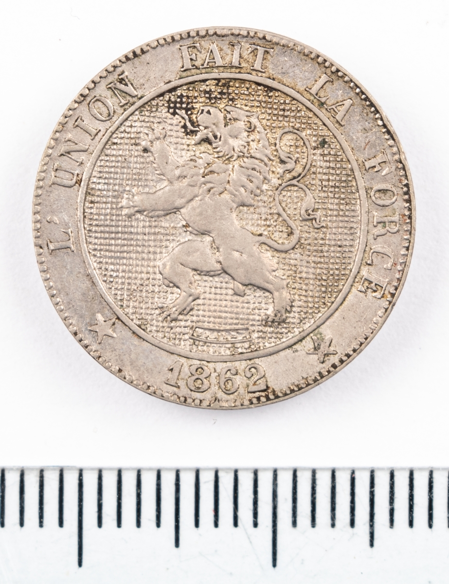 Mynt, Belgien, 1862, 5 Centimes.