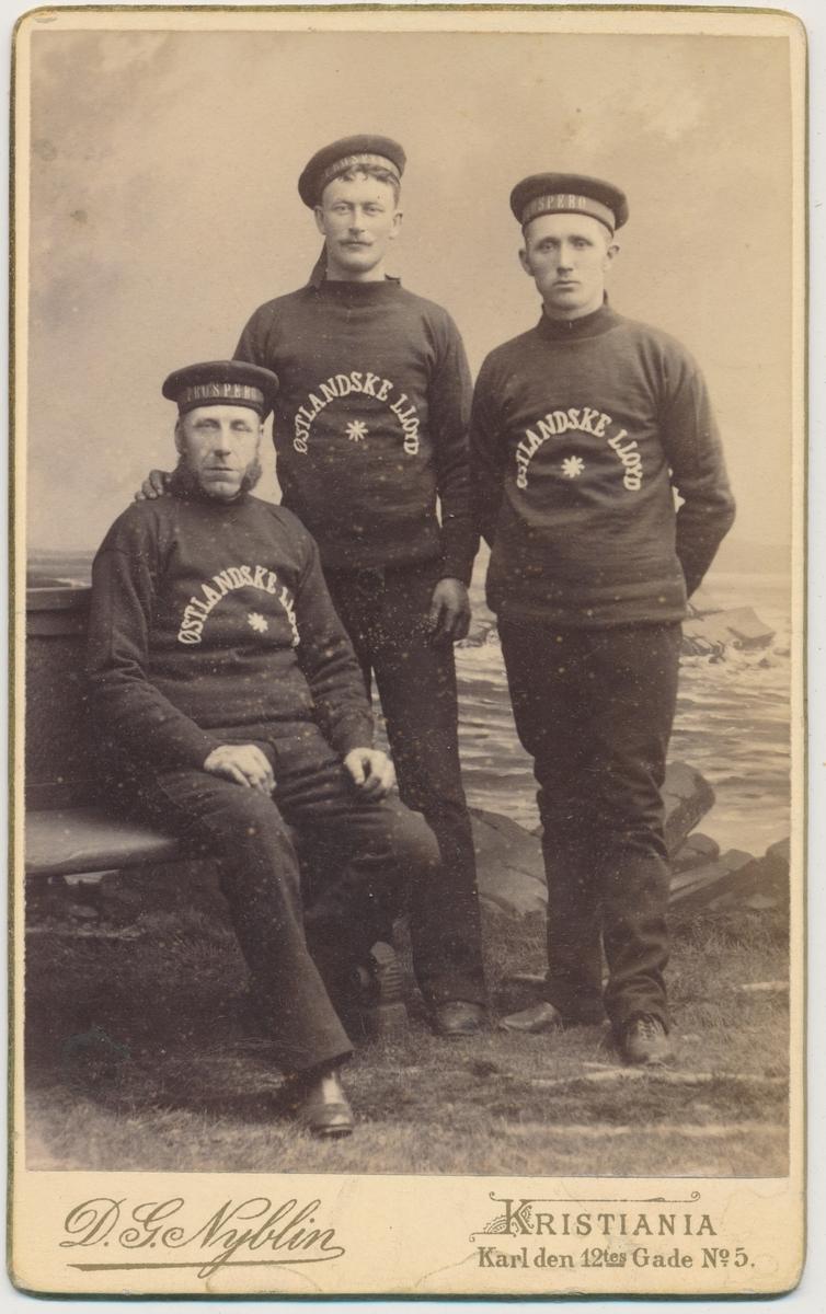 3 unge sjømenn, ukjente