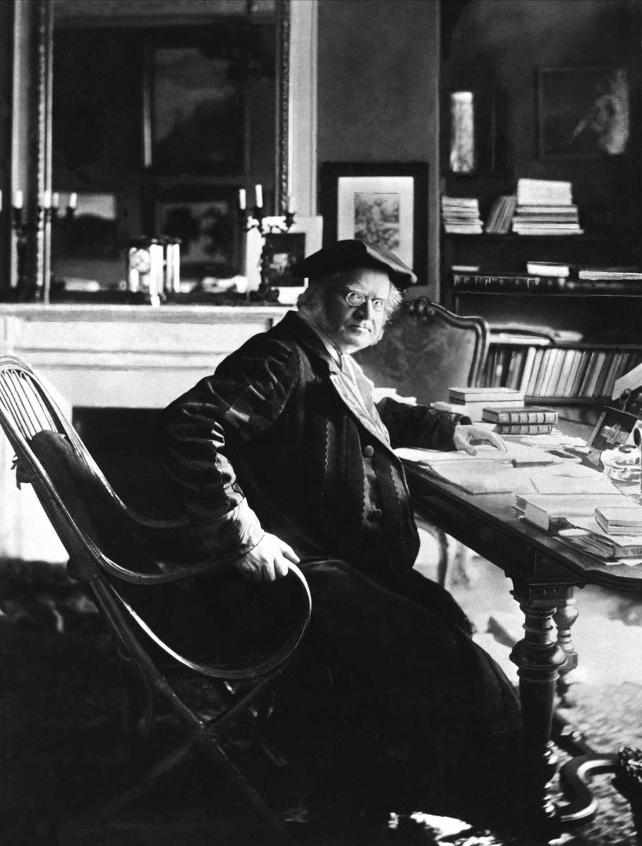 Bjørnson, skrivebord, Paris,