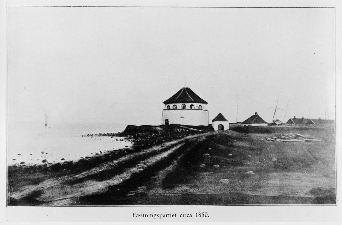 foto av tegning, Fredrikshavn Fæstning