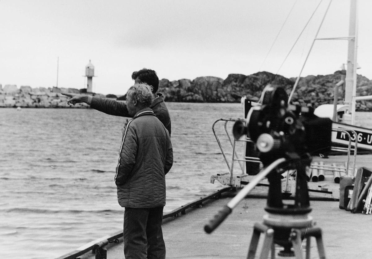 transport, båt, eksteriør, Westamaranruta Haugesund-Utsira, to menn