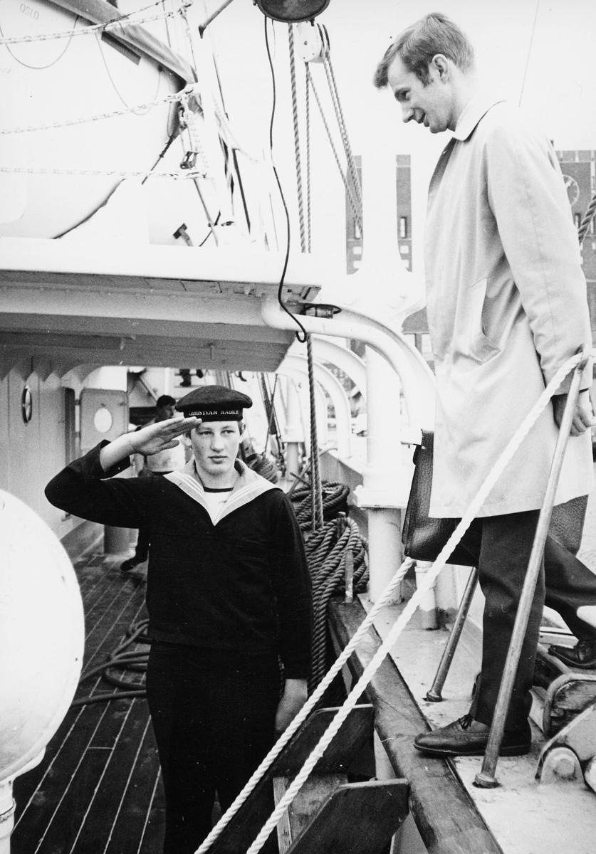 transport, båt, Christian Radich, gutt, mann