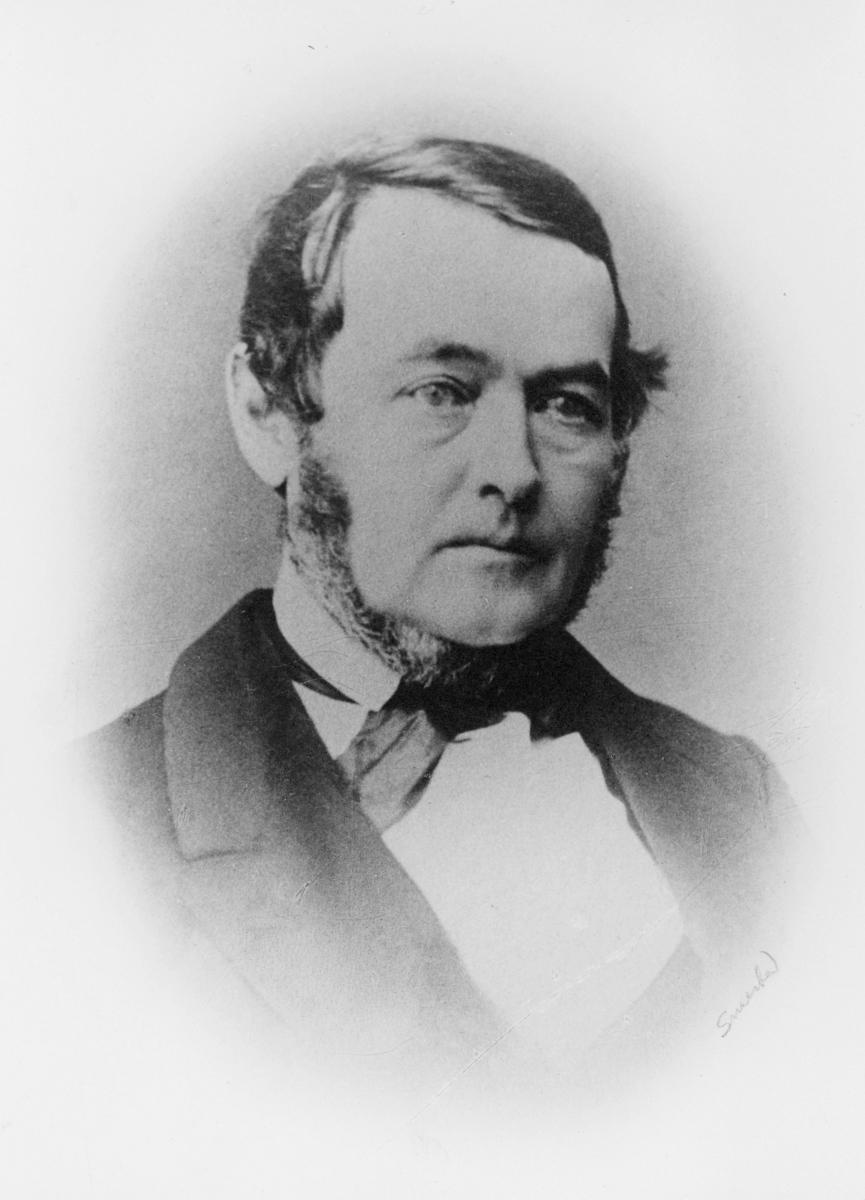portrett, postmester, Fredrik Dührendahl