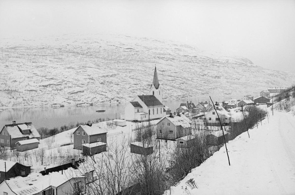 norgesbilder, 8230 Sulitjelma, kirke, hus