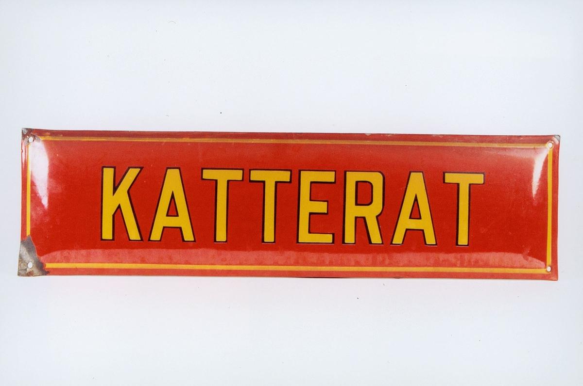 Postmuseet, gjenstander, skilt, stedskilt, stedsnavn, Katterat.