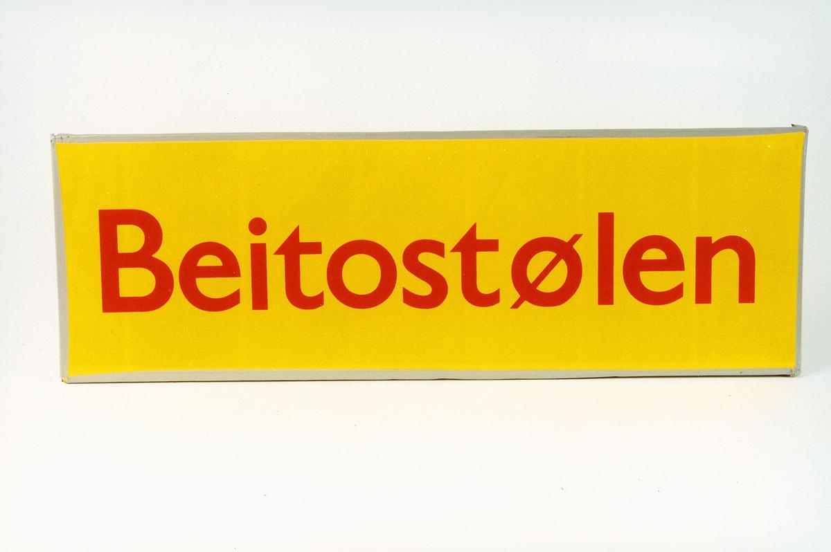 Postmuseet, gjenstander, skilt, stedskilt, stedsnavn, Beitostølen.