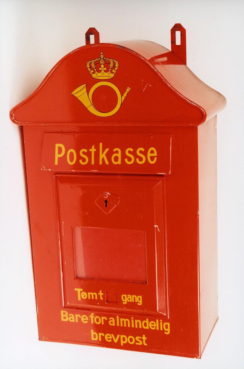 postmuseet, gjenstander, postkasse, Tømt gang, Bare for almindelig brevpost