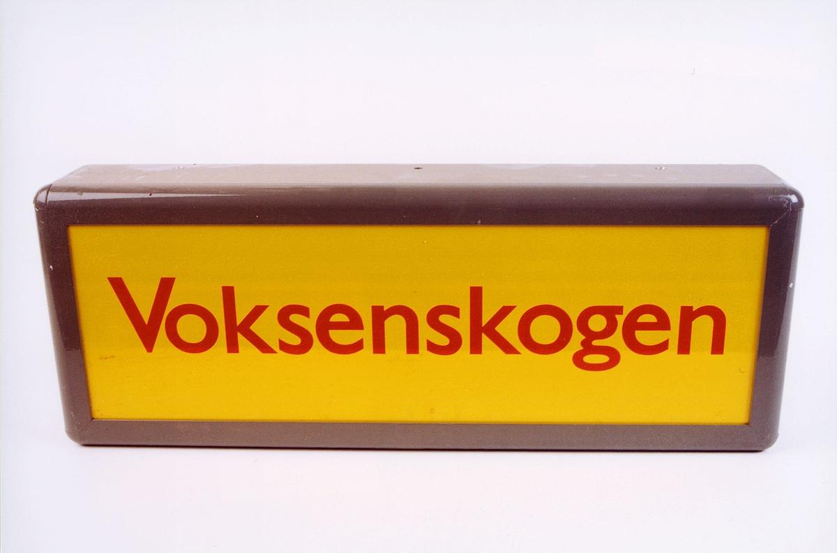 postmuseet, gjenstander, skilt, stedskilt, stedsnavn, Voksenskogen