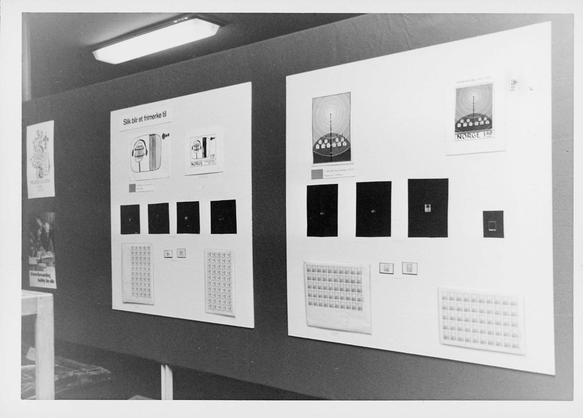markedsseksjonen, Frimerkets dag '75, Det norske Postmannslag, Østenfjellske krets, 9. oktober, utstilling NK nr. 760 og NK nr. 761