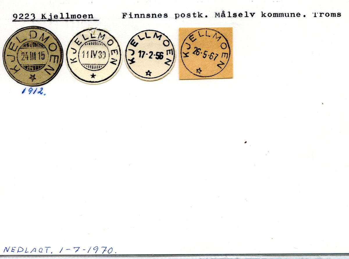 Stempelkatalog 9223 Kjellmoen, Finnsnes postk., Målselv kommune, Troms