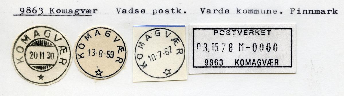 Stempelkatalog 9863 Komagvær, Vadsø, Vardø kommune, Finnmark